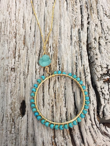 Indian Summer Hoop Necklace