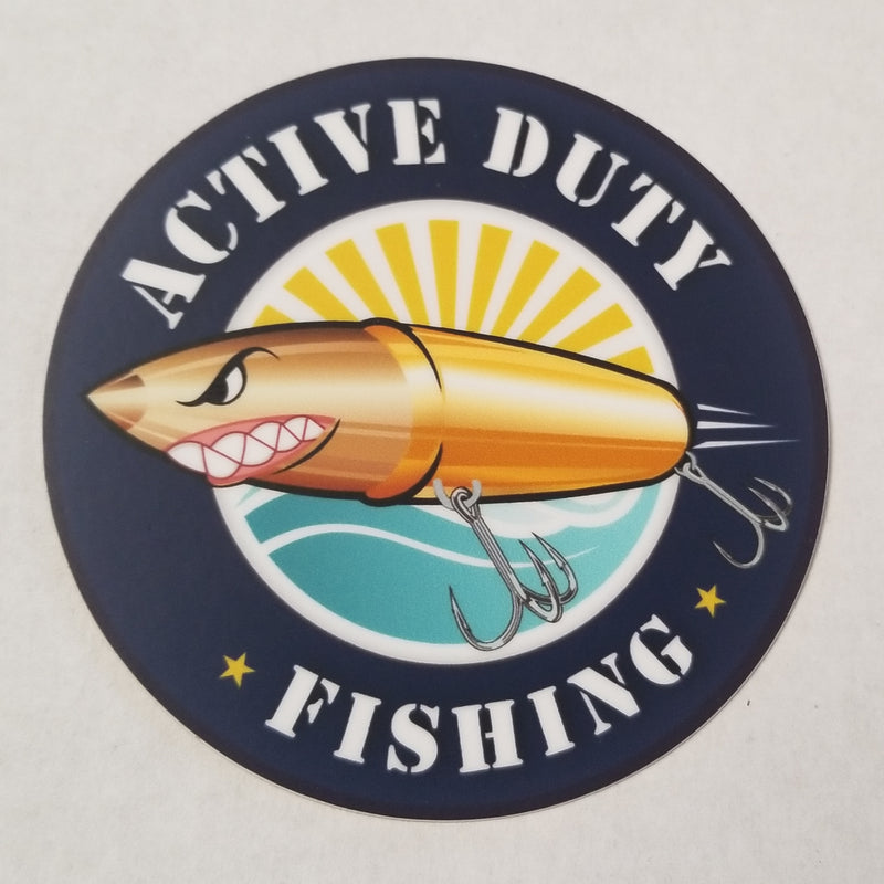 Active Duty Fishing Logo Sticker