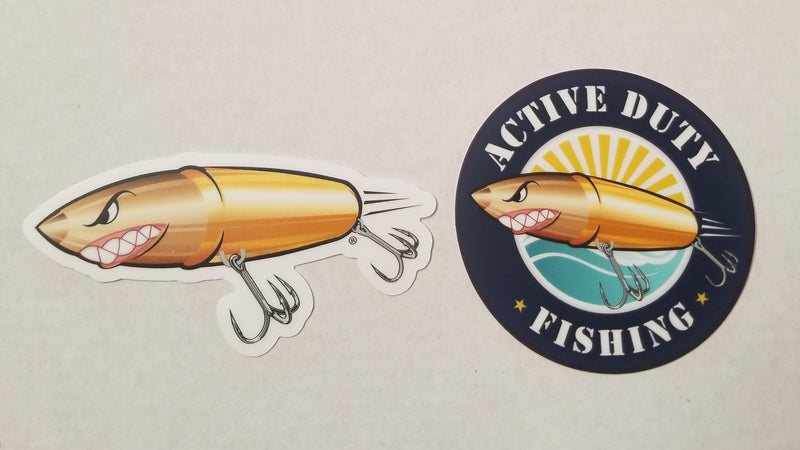 Active Duty Fishing Sticker COMBO!
