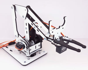 ArmUno 2.0 Robotic Arm with HC-SR04 ultrasonic sensor mounting bracket