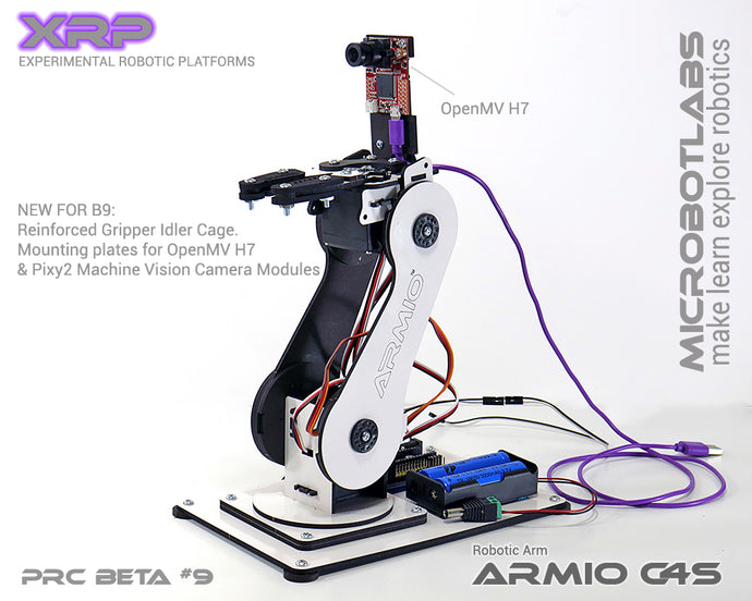 Armio C4S  Arduino Programmable Robotic Arm Beta#9 With Pixy2 and OpenMV Camera Mounts
