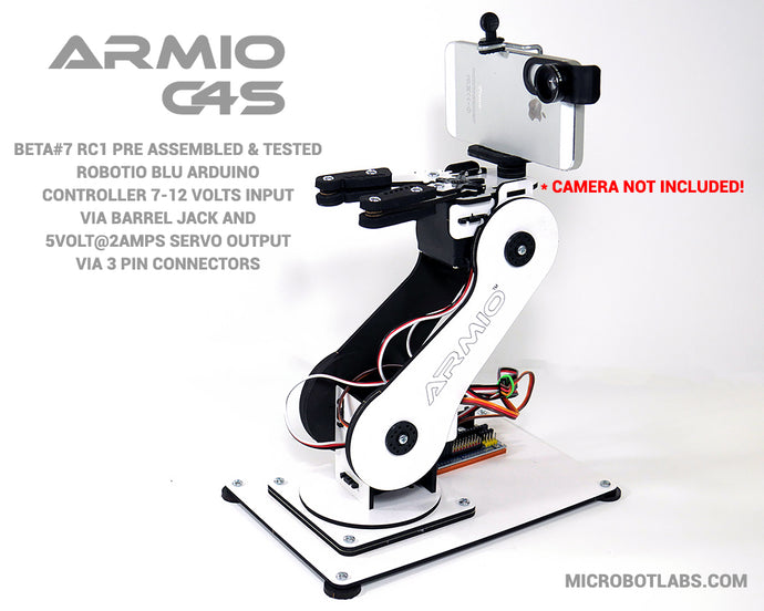 Armio C4S  Arduino Programmable Robotic Arm Beta#7 RC1