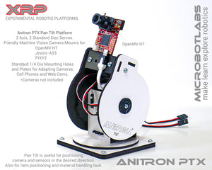 AniTron PT1 Pan Tilt Beta 1 with OpenMV H7 Machine Vision Camera
