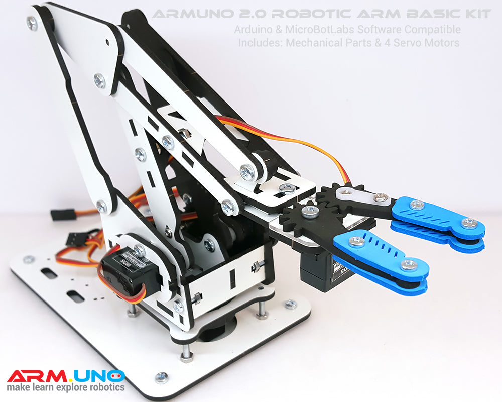 Basic ArmUno DIY Robotic Arm Kit White