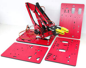 ArmUno 2.0 Robotic Arm Mechanical Parts Red