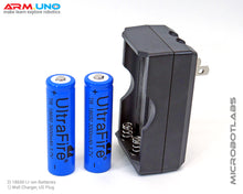 Robot Power Rechargeable 18650 Li-ion Batteries and Charger Set