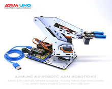 ArmUno Robot Kit With Robotio Blue Servo Sensor IO Controller