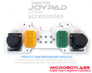 optional mini breadboards example for protio joypad kit