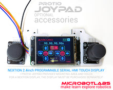 optional NEXTION HMI touch display example for protio joypad kit