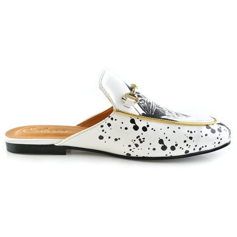 Black & White Butterfly Slip-On Loafer CAG101, Goby, CALCEO Slip-On Loafer