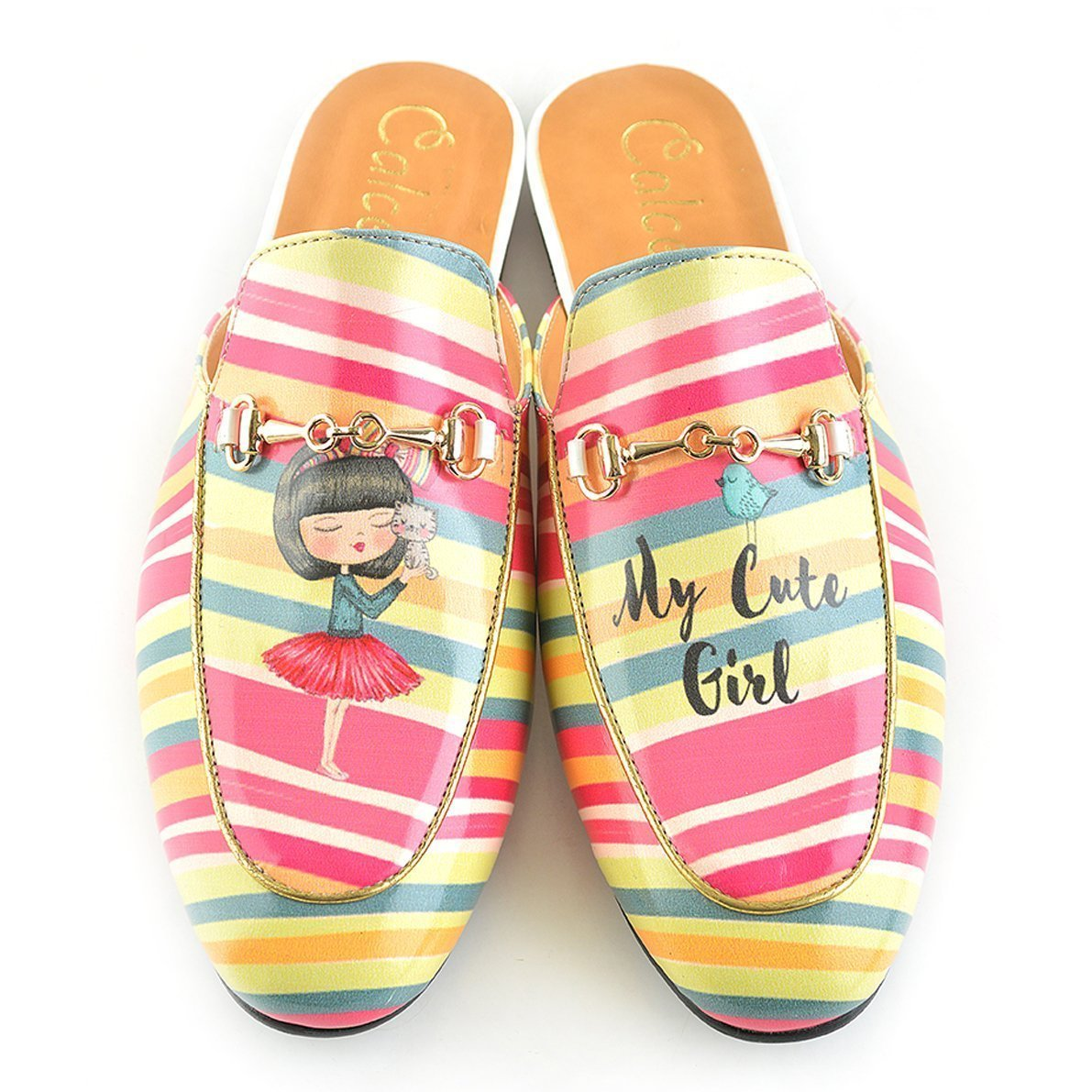 Blue and Pink, Eva, Leather Slip-On Loafer - CAG108