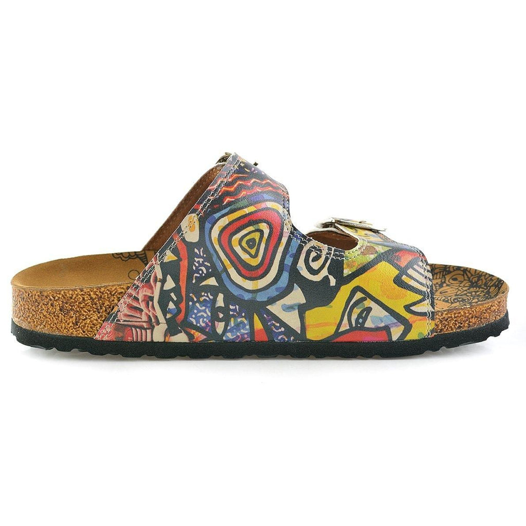 Colored Art Table Patterned Sandal - CAL206
