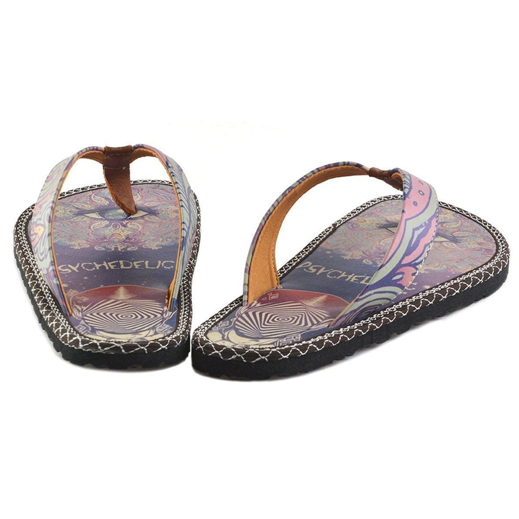 Navy & Fuchsia Psychedelic Flip-Flop CAL410