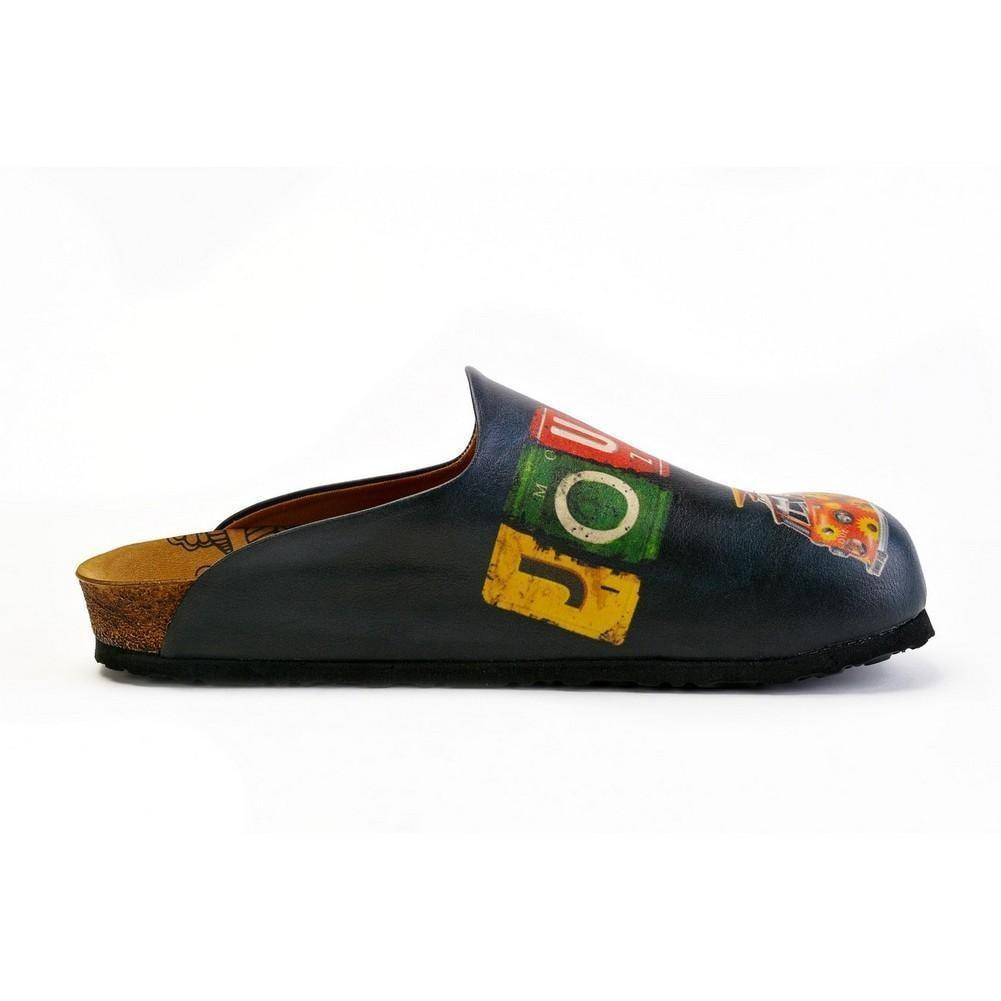 Colorful Journey Written and Colorful Flowers Caravan Patterned Clogs - CET103
