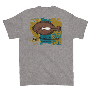 Flounder'N Football Jacksonville, Short-Sleeve T-Shirt
