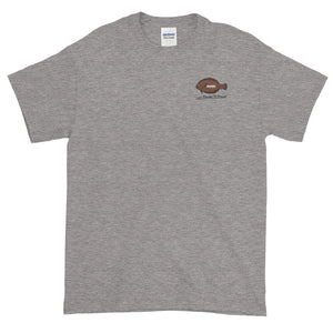 Flounder'N Football Detroit, Short-Sleeve T-Shirt