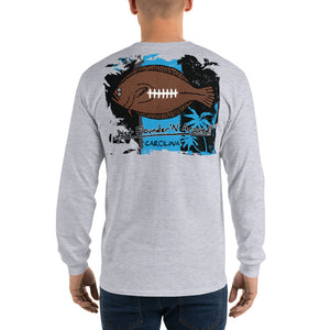 Carolina Football Flounder Mens Long Sleeve T-Shirt