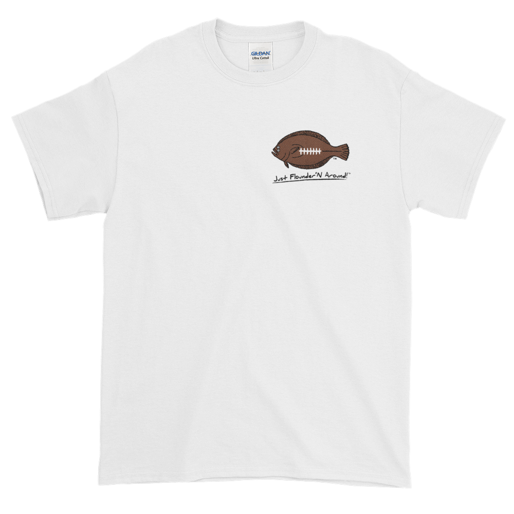 Flounder'N Football New Orleans NFC South, Short-Sleeve T-Shirt