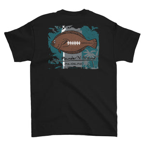 Flounder'N Football Philadelphia, Short-Sleeve T-Shirt