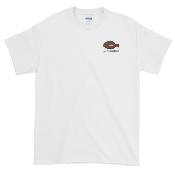 Flounder'N Football New England, Short-Sleeve T-Shirt