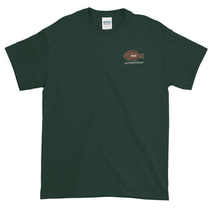 Flounder'N Football Green Bay Short-Sleeve T-Shirt