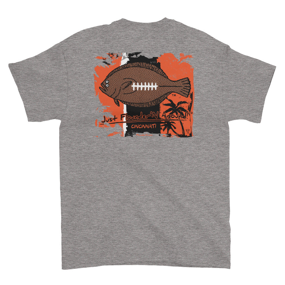 Flounder'N Football Cincinnati, Short-Sleeve T-Shirt