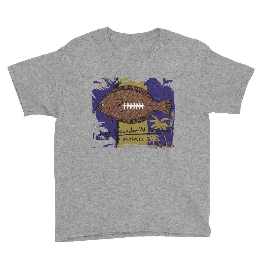 Kids Baltimore Football Flounder - Short Sleeve T-Shirt