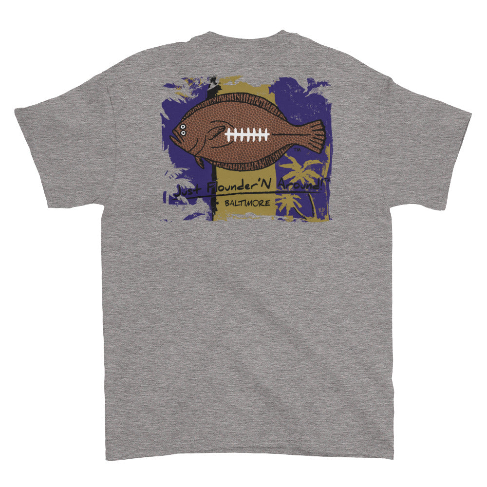 Flounder'N Football Baltimore, Short-Sleeve T-Shirt