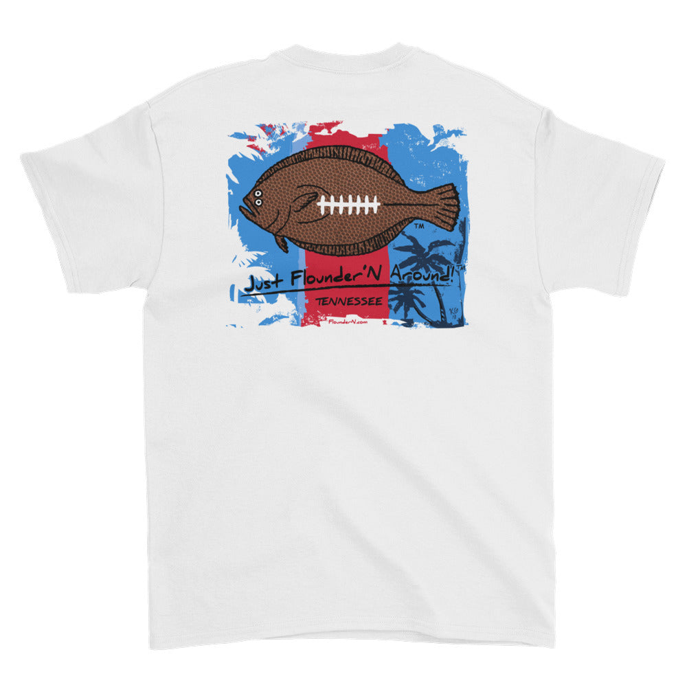 Flounder'N Football Tennessee, Short-Sleeve T-Shirt