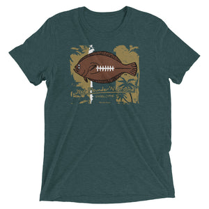 FFL Flounder'N football Charlotte LIGHT WEIGHT Short sleeve t-shirt
