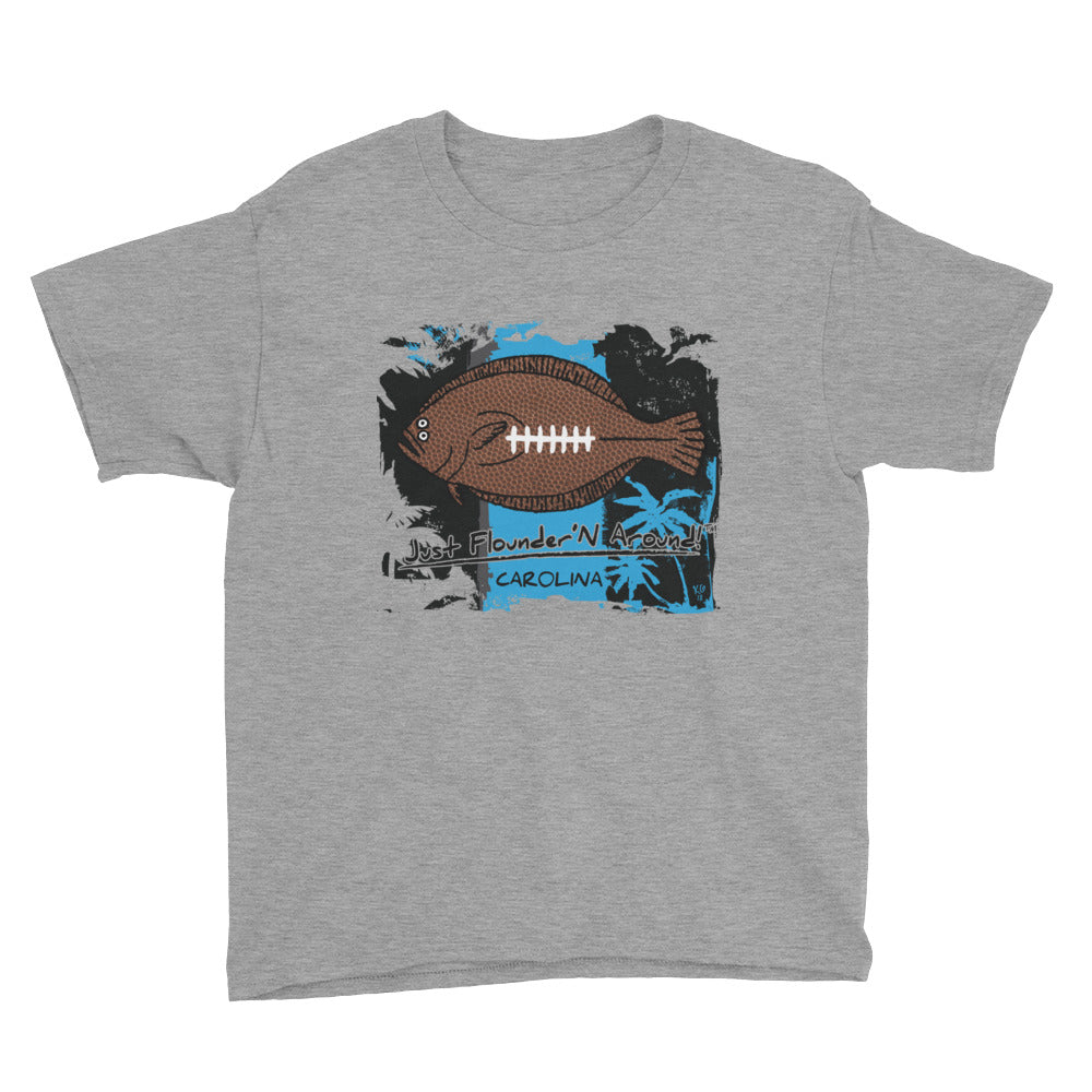 Kids Carolina Football Flounder - Short Sleeve T-Shirt