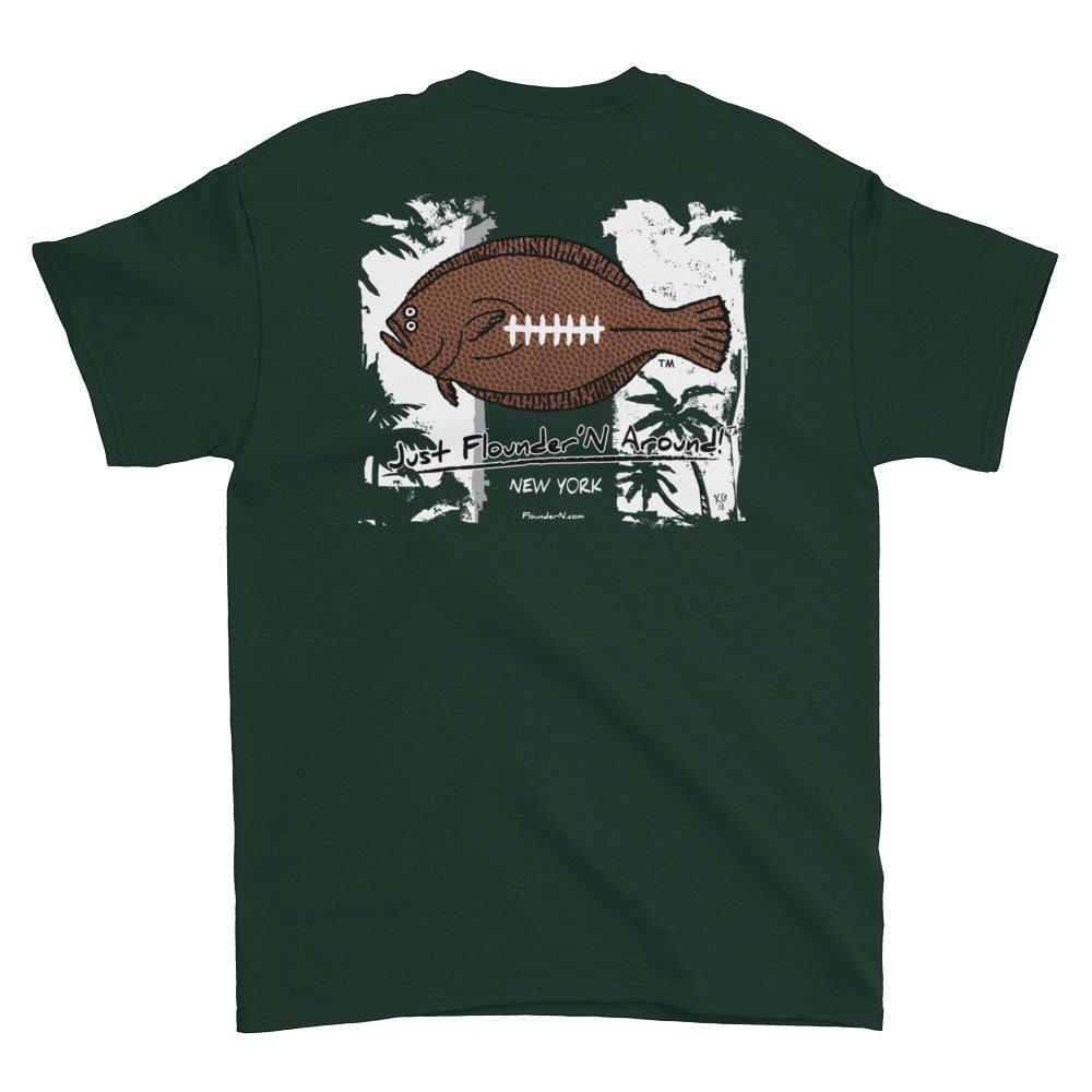 Flounder'N Football New York J, Short-Sleeve T-Shirt