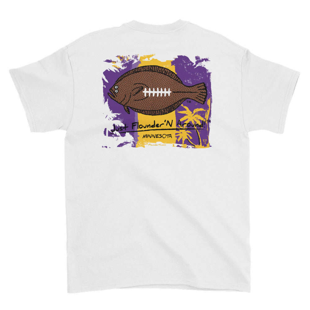 Flounder'N Football Minnesota Short-Sleeve T-Shirt