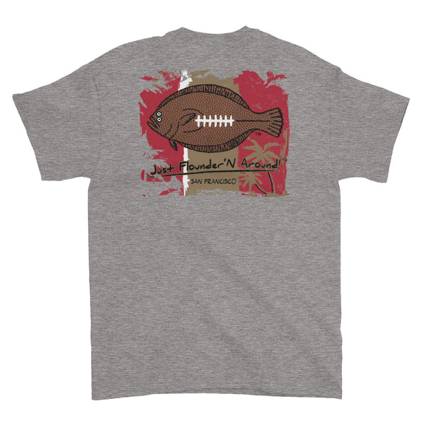 Flounder'N Football San Francisco, Short-Sleeve T-Shirt