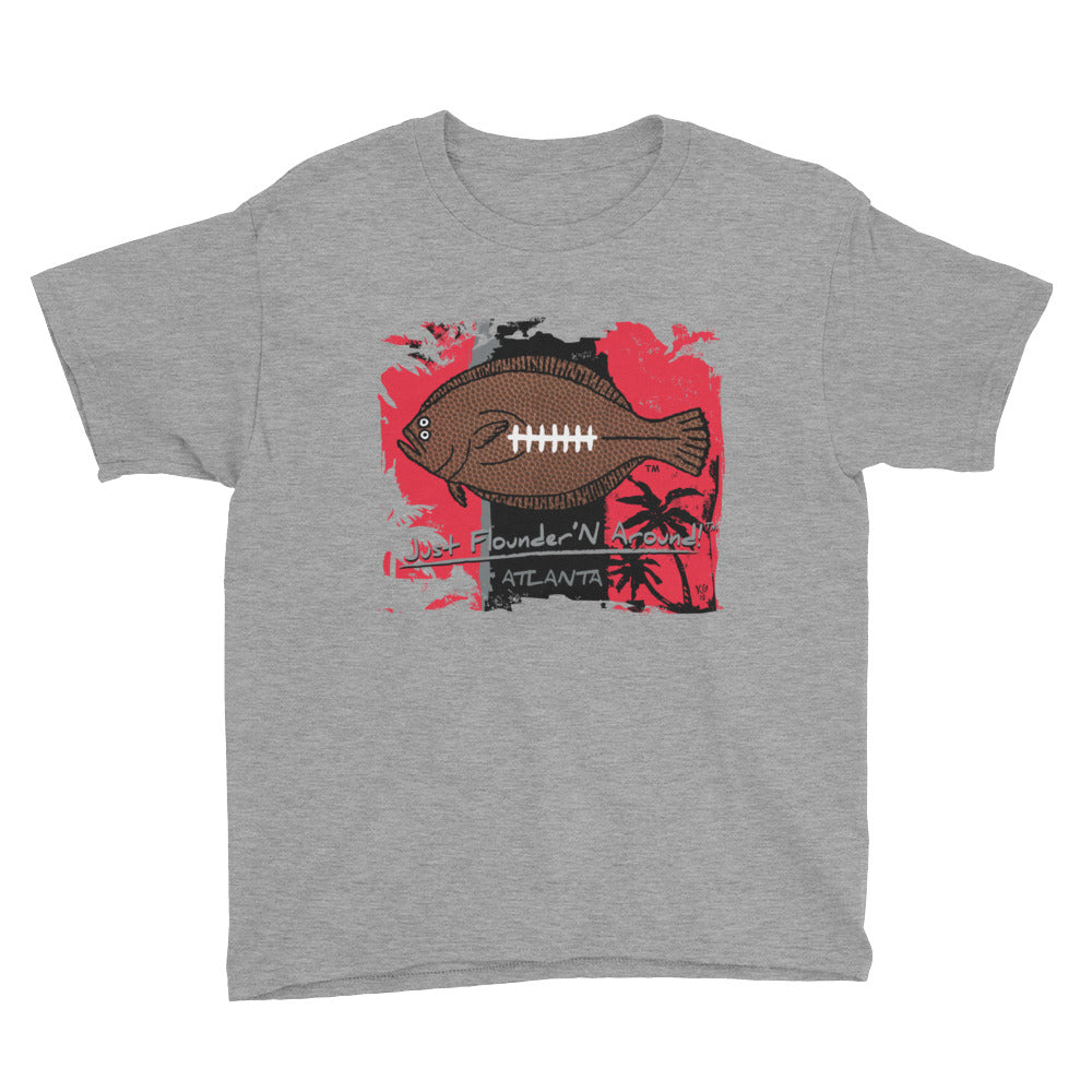 Kids Atlanta Football Flounder - Short Sleeve T-Shirt