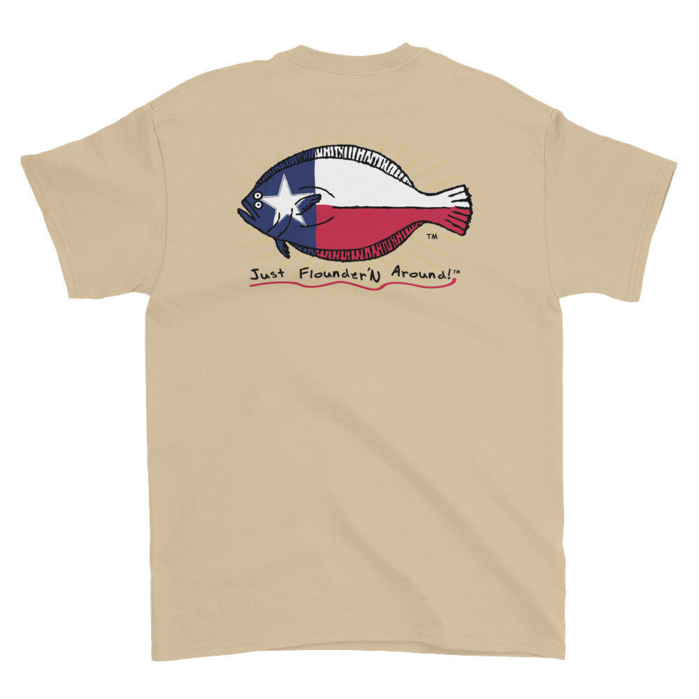 Texas Flag Flounder Short-Sleeve T-Shirt