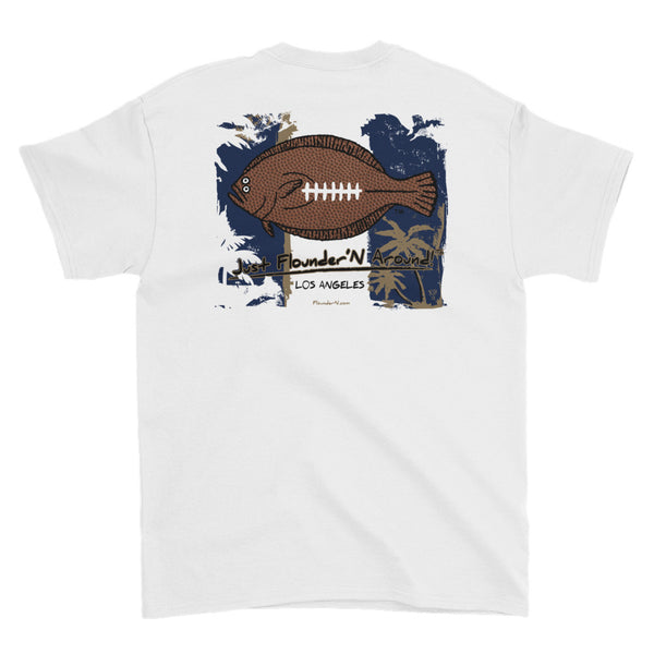 Flounder'N Football Los Angeles Short-Sleeve T-Shirt
