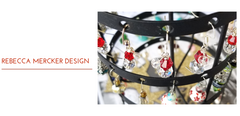 Beautiful christmas earrings displayed hanging up, Rebecca Mercker Design, Jewelry made for you