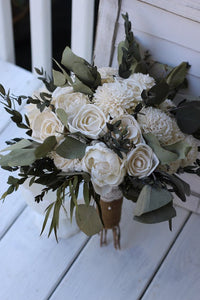 Green Sola Wedding Bouquet