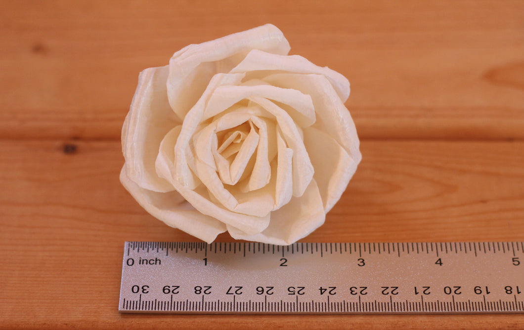 Sola Wood Blanche Roses - Pack of 3