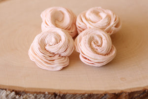 "Blush Pink Sola Wood Shell Flowers 2"" ( Set of 12 )"
