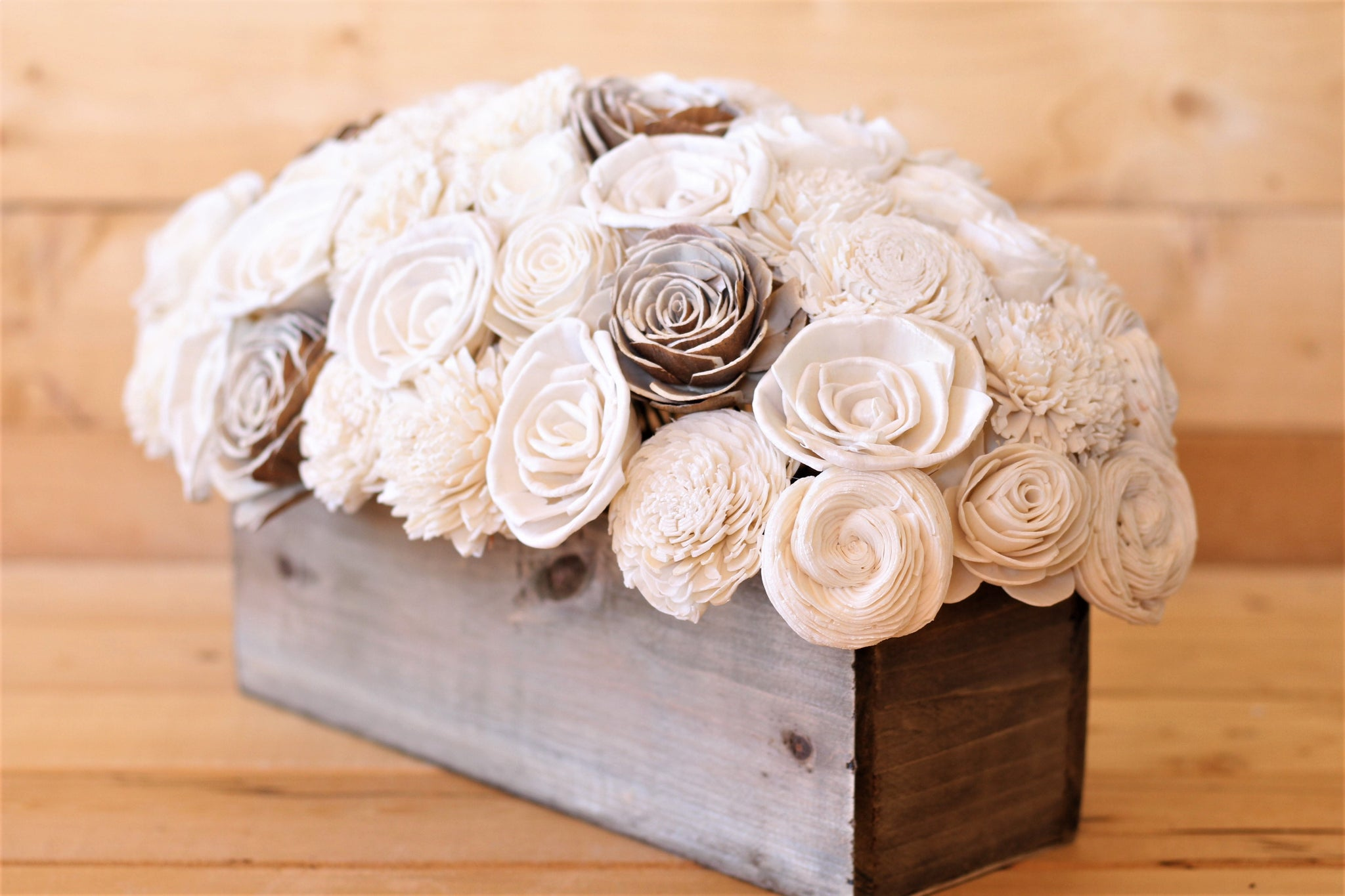 Sola Wood Flower Centerpiece- Rustic Decor- Wedding Centerpiece ...