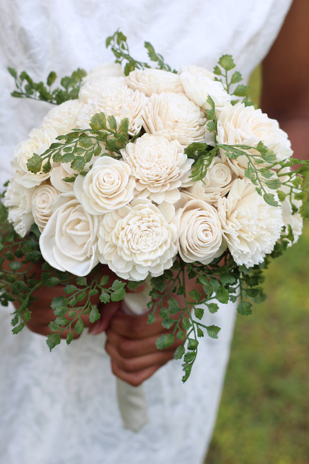 Ivory Sola Wood Bridal Bouquet
