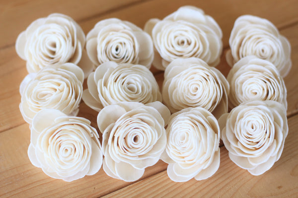 Wholesale/Bulk Sola Wood English Roses (50 Count)