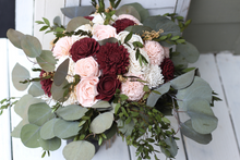 Blush and Marsala Sola Flower Bouquet