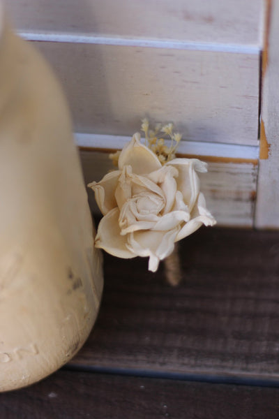 Ivory Boutonniere, Rustic Wedding, Country wedding, woodland wedding, buttonhole
