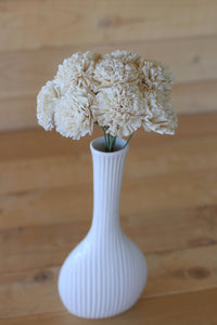 12 Stemmed Sola Wood Carnation Flowers, Sola Flowers on Wire Stems