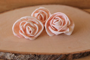 Blush Pink Premium Sola Wood Flowers (Set of 12)