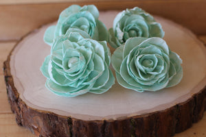 Mint  Sola Wood Peonies ( Set of 12 )