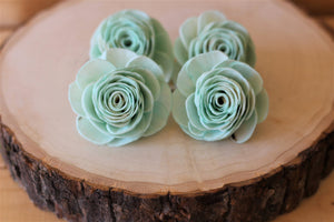 Mint Sola Wood English Rose ( Set of 12 )